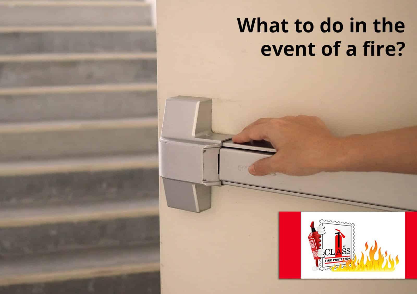 exiting building fire alarm